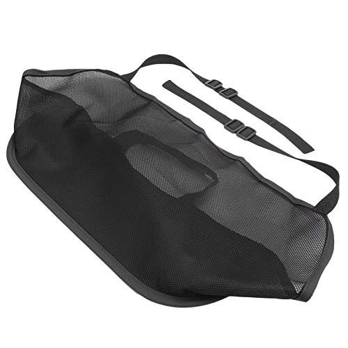 Socobeta Material engrosado Instalación rápida Universal Seat Back Net Bag para la barrera del vehículo del asiento trasero Pet Kids(negro)