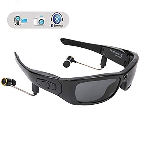 LJD Bluetooth-Sonnenbrille, 1080p Full HD-Video-Aufnahme-Kamera Stereo Bluetooth Kamera Gläser, für Radfahren/Fahren/Wandern/Fischen/Jagen