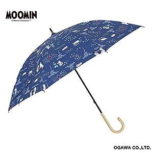小川(Ogawa)  長傘 晴雨兼用日傘 手開き 50cm 8本骨 ムーミン/ファミリータイム UVカット率&遮光率99%以上 遮熱加工 はっ水 裏面ポリウレタンコーティング 56128