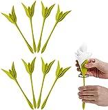 Topstylehouse Servilleteros de flores de Bloom, servilleteros de plástico, con...