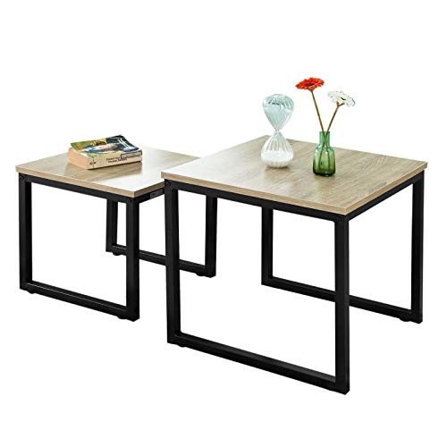 SoBuy FBT42-N, Nesting Tables, Set of 2 Coffee Table Side Table End Table
