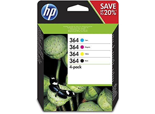 HP 364 original ink cartridge black and tri-colour standard capacity combo-pack