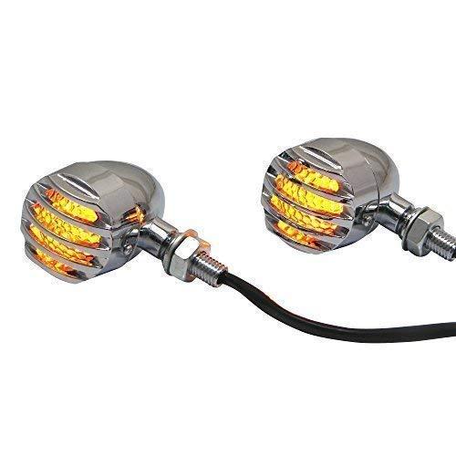 Prison Style Chrome Acier Moto Clignotant LED Clignotant Clignotants