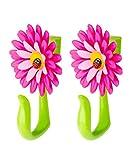 VIGAR Flower Power Gancho para Puerta, Rosa y Verde, Dimensiones: 8 x 5 x 12,5...