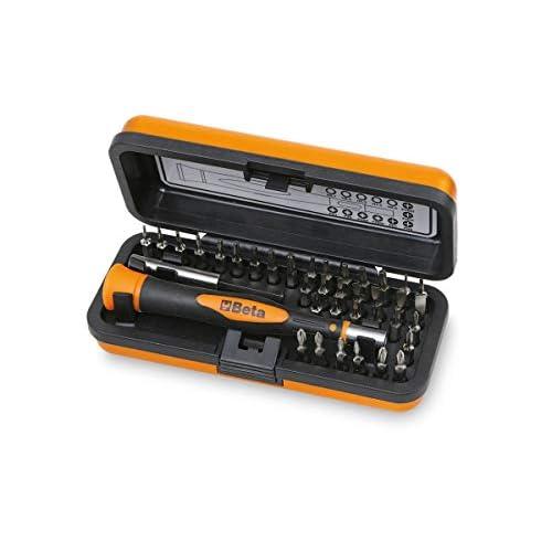 Beta 1256/C36-2 - Set Mini Cacciaviti professionali 36 inserti, Mini Cacciaviti di Precisione, Microgiravite con inserti intercambiabili da 4 mm e Prolunga Magnetica - Dimensioni: 130x60x35 mm.