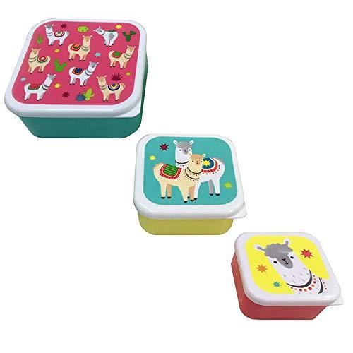 Set 3 Tapers Lunch Llama - Taper Niños Infantiles, colegios. Regalos y Detalles para Niños, Cumpleaños y Comuniones