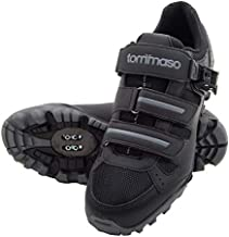 Tommaso Vertice 200 Men's All Mountain Vibram Sole Mountain Bike Shoes with Buckle - 43 Black