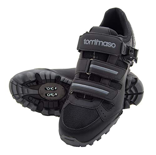 Tommaso Vertice 100 Men's All Mountain Vibram Sole Mountain Bike Shoes - 47 Black
