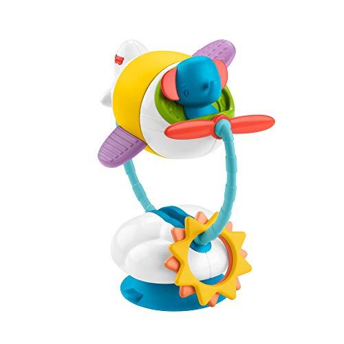 Fisher-Price Mon Petit Avion d'Activités, jouet d'éveil bébé pour chaise haute avec ventouse, lavable au lave-vaisselle, 3 mois et plus, GRR31