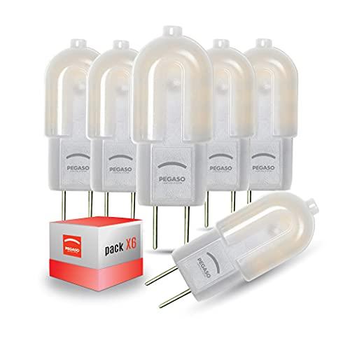 GY6.35 LED-Leuchtmittel, 6 Stück, DC 12 V, Pegaso, 2 W, 170 Lumen, natürliches Licht 4000 K