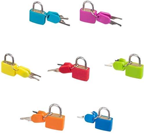 kids toys LHY Mini candado de seguridad colorido multi colores cerradura con llaves se aplica a los armarios mochilas bolsas de ordenador caja de herramientas 7 piezas de moda