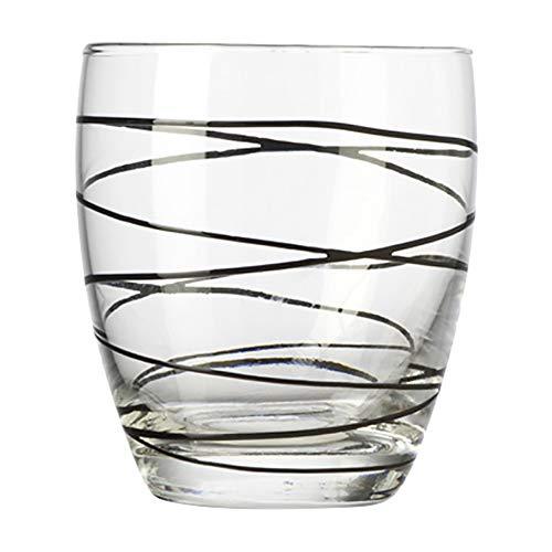 Montana :swirl drinkbeker zwart, set van 6, 330 ml, hoogte 9,5 cm, vaatwasmachinebestendig, 037198