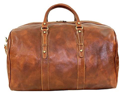 BZNA Firenze Bag Nicola Grande cognac Weekender Herren Reisetasche Business Bag vegetable tanned Italy Designer Damen Handtasche Ledertasche Schultertasche Tasche Leder Neu
