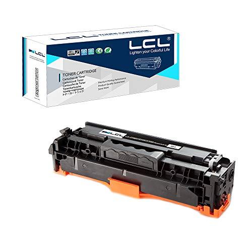 LCL Compatibile/Rigenerata Cartuccia di Toner 304A CC530A (1 Nero) Sostituzione per HP Color LaserJet CP2020/CP2025/CM2320