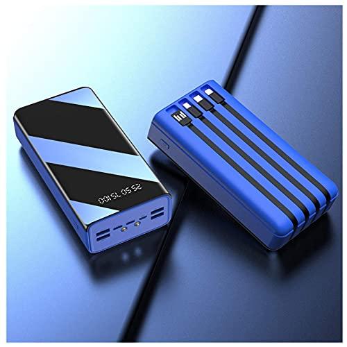 Tcbz 50000Mah Power Bank, Cargador portátil de 7 Salidas, Paquete de baterías externas de Alta Capacidad con Micro y USB-C y Lightning y USB de 4 entradas, Carga de Alta Velocidad, con Pantalla L