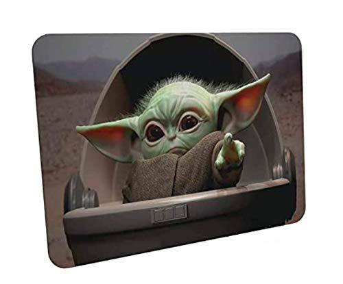 Alfombrilla de Ratón de Juego- STAR WARS baby yoda - Suave extendido Agua Resistente Tela de Superficie, Base de Agarre de Goma Antideslizante, Se Adapta a Todos los Tipos de ratón.Adopta un baby jedi