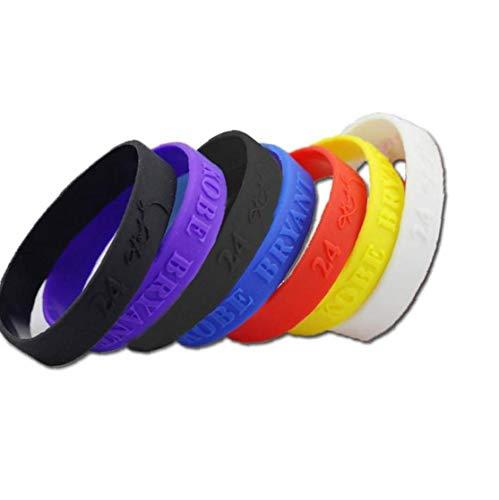 linjunddd Deportes De Silicona Pulseras De Goma Unisex Pulseras Colores Mezclados 6pcs / Paquete Accesorios Favor De Partido