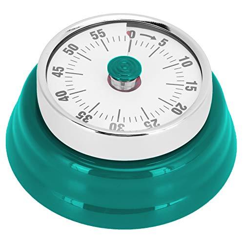 Sharainn Temporizador, recordatorio de Cuenta Regresiva Manual, Temporizador magnético para Cocina(Visual Timer: Dark Green (no Logo))