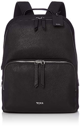 TUMI - Varek Hudson Leather Laptop Backpack - 14 Inch Computer Bag for Men and Women - Black