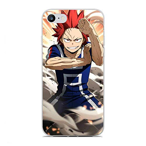 BFDRSGES Clear Case for Apple iPhone 6 Plus/6s Plus, Red-Riot Eijirou Kirishima 5 Transparent Slim Fit TPU Flexible Frame Anti-Yellowing Silikon Coque Cover Case