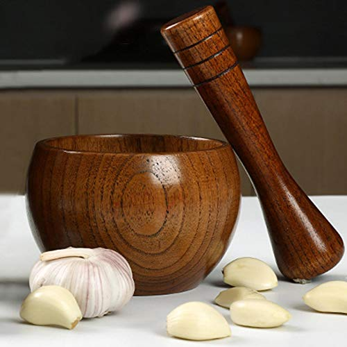 Mörser Und Stößel Aus Holz, Ideal Für Manuelle Ingwer, Gewürze, Knoblauchpresse Jujube Medizin Knoblauch