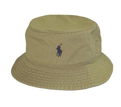 Polo Ralph Lauren Mens Bucket Hat (S/M, Khaki)
