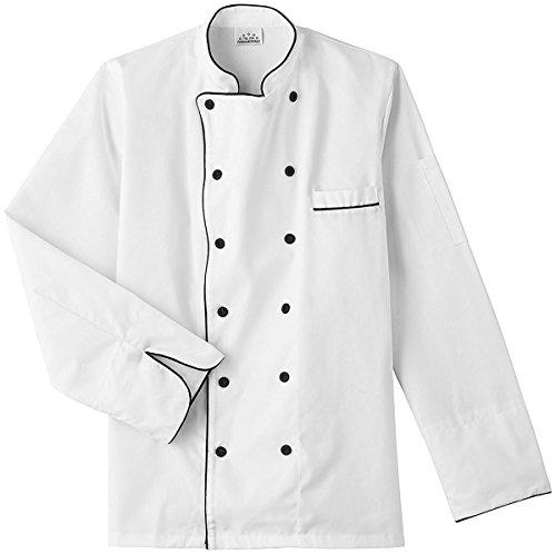 Five Star 18120 Unisex Executive Chef Coat (White, Medium)