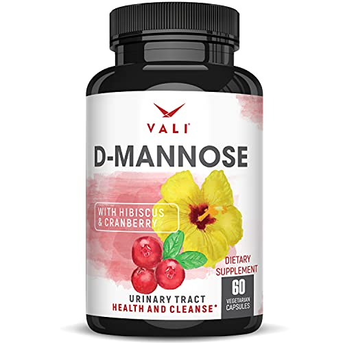 D Mannose 1000 mg Urinary Tract Health Formula - Triple Strength Organic Cranberry Fruit Concentrate & Hibiscus. Healthy Bladder Function, Natural Yeast Cleanse & UTI Support Pills, 60 Veggie Capsules