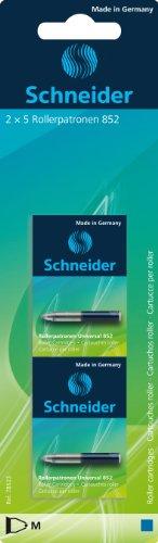 Schneider Universal 852 Rollerpatrone (löschbar, für Patronenroller Breeze, Base Senso, Base Ball und ID Duo) königsblau 2 x 5 Stück