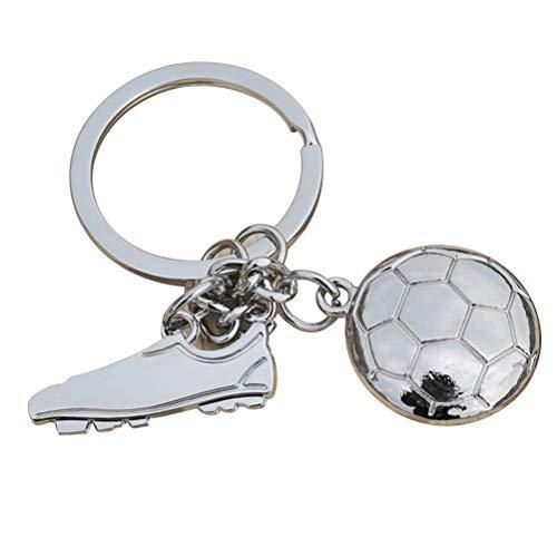 WINOMO Pendentif de Chaussure de Football Porte- clés métal créatif Porte- clés Porte- clés Chaussures de Football de Football Cool (Argent Style 2)