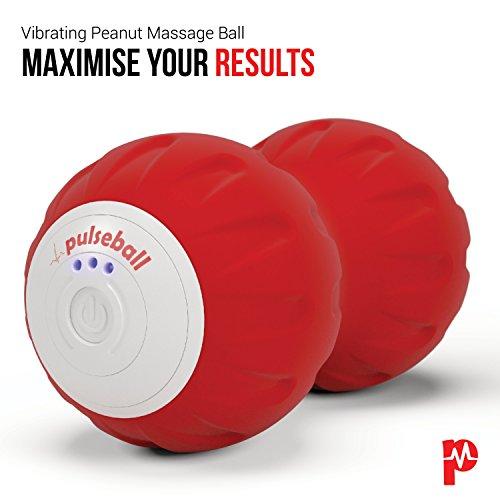 Pulseroll 4 Geschwindigkeit Vibrierend Massage Therapie Fitness Einzel Black