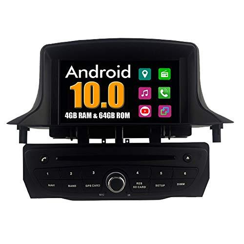 RoverOne Sistema Android Coche Reproductor de DVD para Renault Megane III 3 Fluence 2009 2010 2011 con Radio Navegación GPS Estéreo Multimedia Bluetooth USB MirrorLink