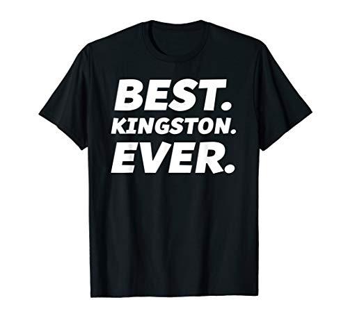 Funny Worlds Best Kingston Shirt Men Kid Kingston Name T-Shirt