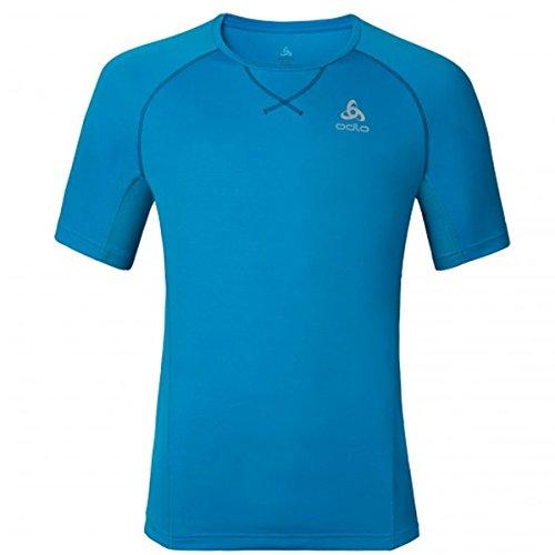 Odlo MC Virgo T-Shirt Homme Blue Jewel FR : S (Taille Fabricant : S)