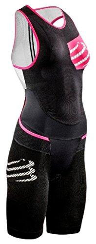 COMPRESSPORT Compress Port Femme TR3000 Aero Trisuit Woman Triathlon Einteiler M Noir