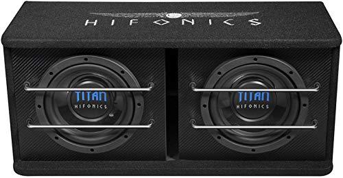 HIFONICS TD200R 2 x 20 cm Dual Bassreflex subwoofer kist baskist
