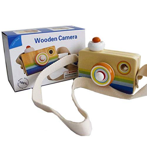SWZY Camara de caleidoscopio -Mini Cámara de Madera Cartoon Mini cámara de Madera de Juguete con múltiples Prisma caleidoscopio Fotos Lente cámara portátil para niños pequeños (Llevar en la Mano)