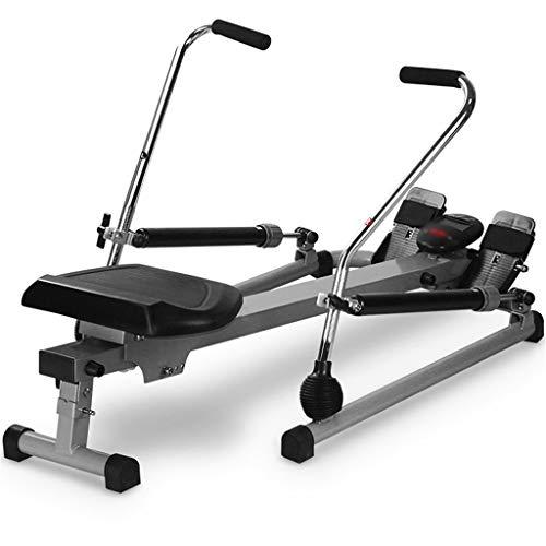 XYF Rowing Machine Máquinas De Remo para Fitness Equipo De Fitness Multifuncional Ejercicio Aerobico Puede Soportar 120 Kg (Color : Black, Size : 112 * 73 * 75cm)