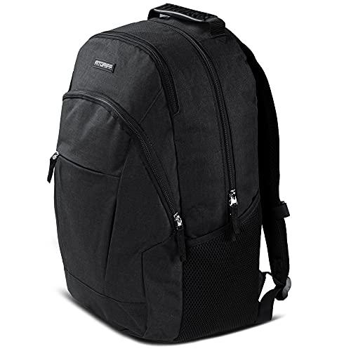 Fitgriff® Rucksack für Herren und Damen, mit Laptopfach und Nassfach, für Arbeit, Fitness, Sport, Freizeit, Gym, Sportrucksack, Daypack, Backpack (Black, M)