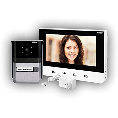 GEV Video-Türsprechanlage Sophia, 1 Stück, 200 x 145 x 23 mm, Silber, 088665