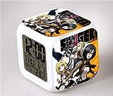shiyueNB Anime Action Doll Reloj Despertador Digital Lámpara de Mesa Modelo Doll Action Toy Niños 5
