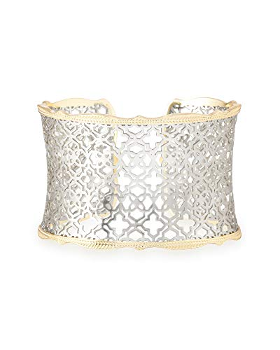 Kendra Scott Candice Cuff Bracelet for Women in Mixed Metal Filigree, Fashion Jewelry, 14k Gold-Plated and Rhodium-Plated