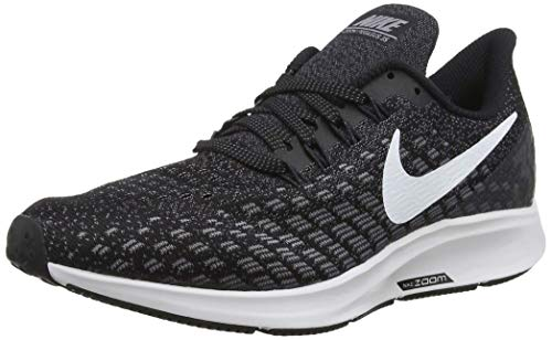 Nike Men's Air Zoom Pegasus 35 Running Shoe Wide 4E Black/White/Gunsmoke Oil Size 11.5...