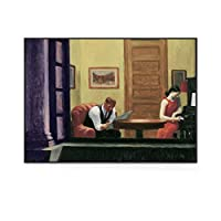 エドワードホッパーウォールアートパネルキャンバス絵画インテリアエドワードホッパーポスタープリントモダン絵画インテリア壁画リビングルーム寝室家の装飾50x70cm /非フレーム-x絵