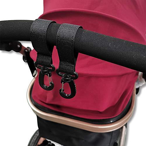 DEEYOTA ベビーカーフック 荷物フック 装着簡単 滑り止め機能 360 回転 荷物フック カーグッズ 収納 買い物等用 2個セット