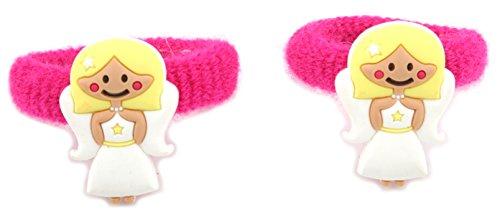 Zest 2 bandes élastiques cheveux d'ange Accessoires Rose et blanc