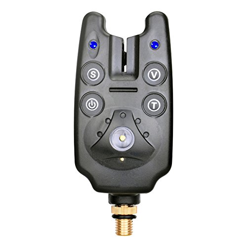 Indicateur LED Système d'alarme avec lumière de pêche sonorité réglable Volume résistant à l'eau pour canne à pêche