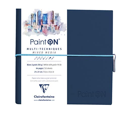 CLAIREFONTAINE 975176C Bl col PAINT ON 10.5x14.8 50F ass. 250g