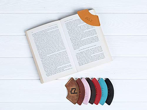 Personalized Leather Bookmark for Women, Men, Kids - Custom Page Corner Bookmarks - Gifts for Book Lovers and Writers.