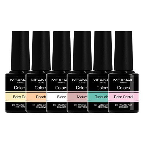 Set de Esmaltes de Uñas Gel UV LED 6 Colores Esmaltes Semip